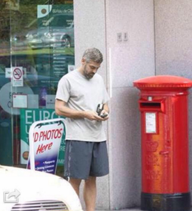 A picture of the movie star counting his change outside the local post office caused a stir far beyond the seaside town