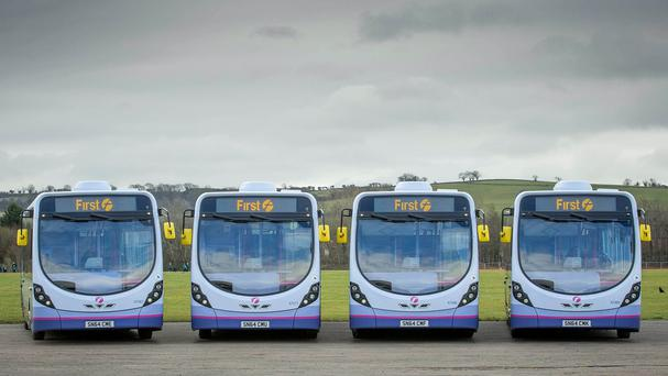 FirstGroup's new buses are fitted with the latest low-emission engines (FirstGroup/PA)