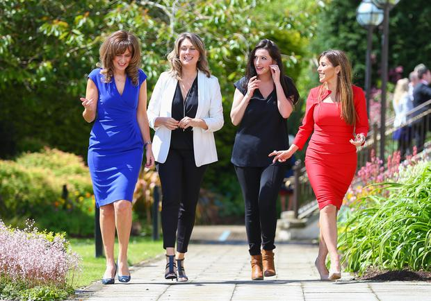 Deirdre Heenan, Sarah Travers, Emma Pengelly and Cathy Martin at the Tedx Event at Stormont Castle in Belfast