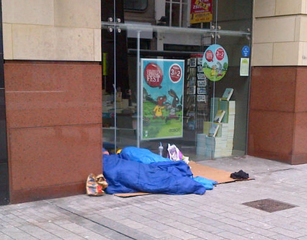Homeless people sleeping rough on the streets of Belfast are sending out the wrong image to visitors and are a tragedy of our modern times, says former Lord Mayor Jim Rodgers