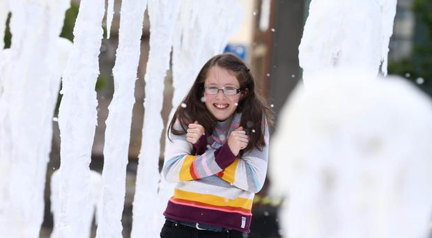 Katie Jean Cherry from Lisburn experiences the chaos caused by White Walkers in Belfast