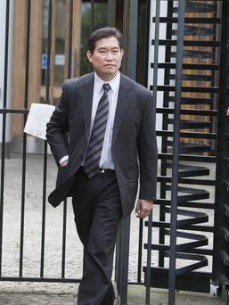 Dr Tony Chee outside court