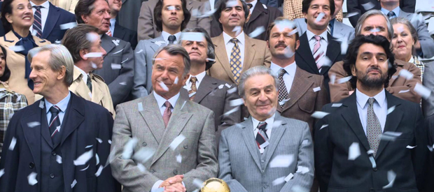 Sam Neill, second from left, as Joao Havelange - predecessor of Fifa president Sepp Blatter - in the movie about the football body
