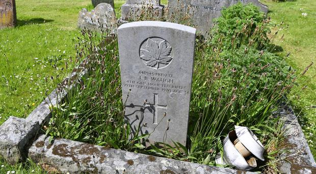 Some of the World War One gravestones