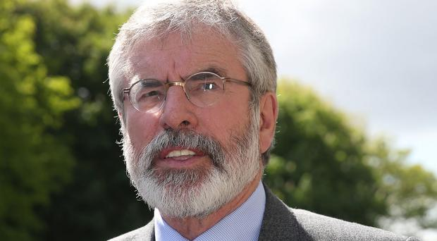 Sinn Fein president Gerry Adams testified at his brother Liam's first trial, which collapsed in April 2013 for legal reasons