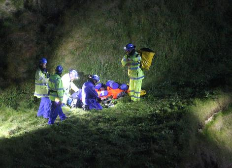 A rescue operation was launched on Monday night after the teen was trapped in a cave