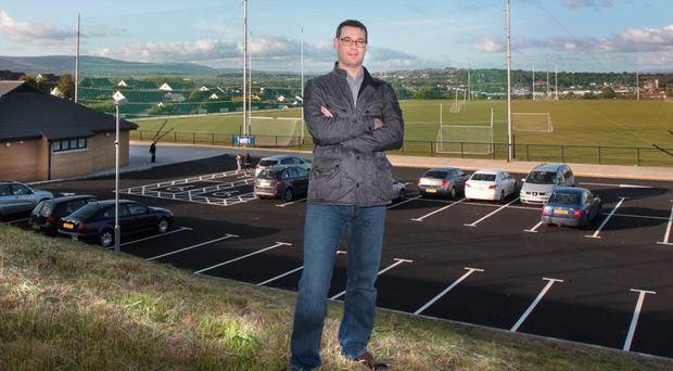 Doire Colmcille GAC chairman Mark Higgins at the new site in Derry which will be officially opened this weekend