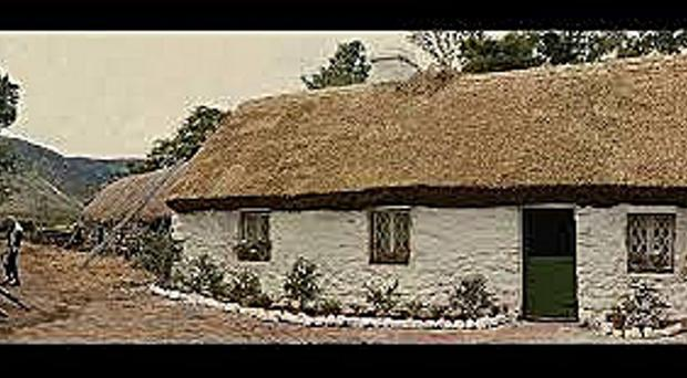 White O'Morn cottage in Maam, Connemara, has fallen into disrepair over the years and is little more than a pile of stones