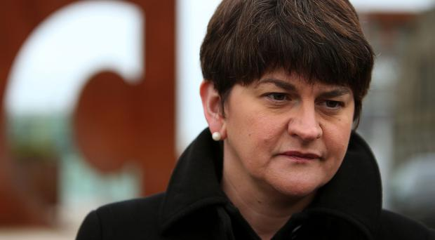 Arlene Foster is determined to drive through the Budget