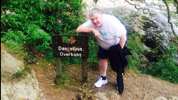 Stephen Nolan on his Mournes walk when he also ignored the signs