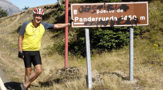 Andy Higginson in the Picos de Europa mountains in Spain