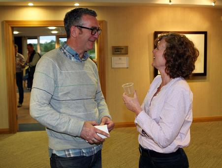 Rev Alan Kilpatrick talks with his wife Jan in Craigavon Civic Centre last night
