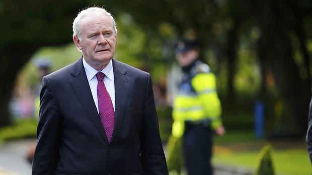 Martin McGuinness sidestepped questions about his future as Deputy First Minister