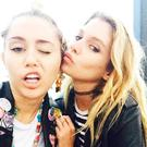 Pictures of Stella Maxwell and Miley Cyrus posted on Instagram
