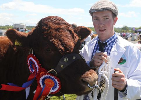 Alan Humphries with his champion Saler