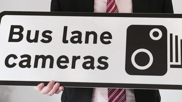 The cameras aim to catch out motorists using the bus lanes to get ahead in congested traffic