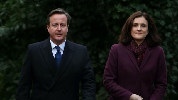 David Cameron was briefed by Northern Ireland Secretary Theresa Villiers at the weekly Cabinet meeting