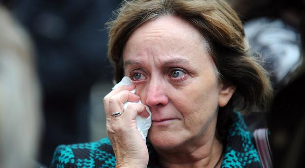 Maire's daughter Brenda after Walsh was found guilty in 2011