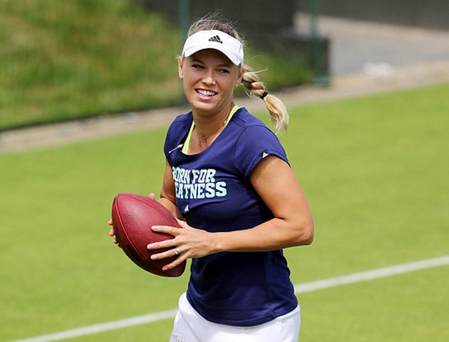 Tennis ace Caroline Wozniacki sporting a new ring