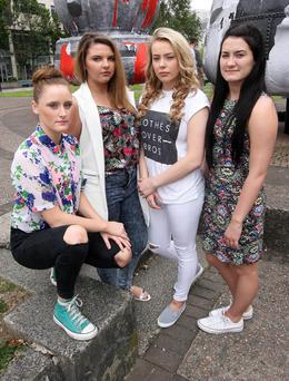 Dance students Leyla Stock, Chloe McCullagh, Fionnuala O'Neill and Carys Laverty