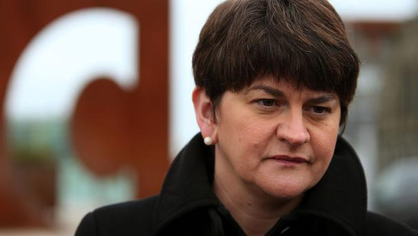 DUP finance minister Arlene Foster warned ministers against taking rash spending decisions without a deal