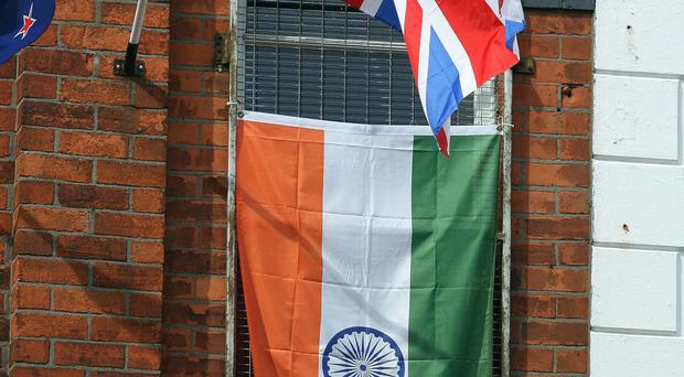 Flags flying on the Ormeau Road