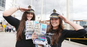 Sisters Rachel and Claire Kearns were selling programmes