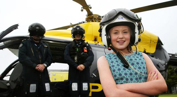 Alanna Casement meets the paramedics and police officers who helped save her life