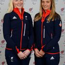 Skier Kelly Gallagher (left), who is set to be honoured by Queen's University, with her Guide Charlotte Evans.