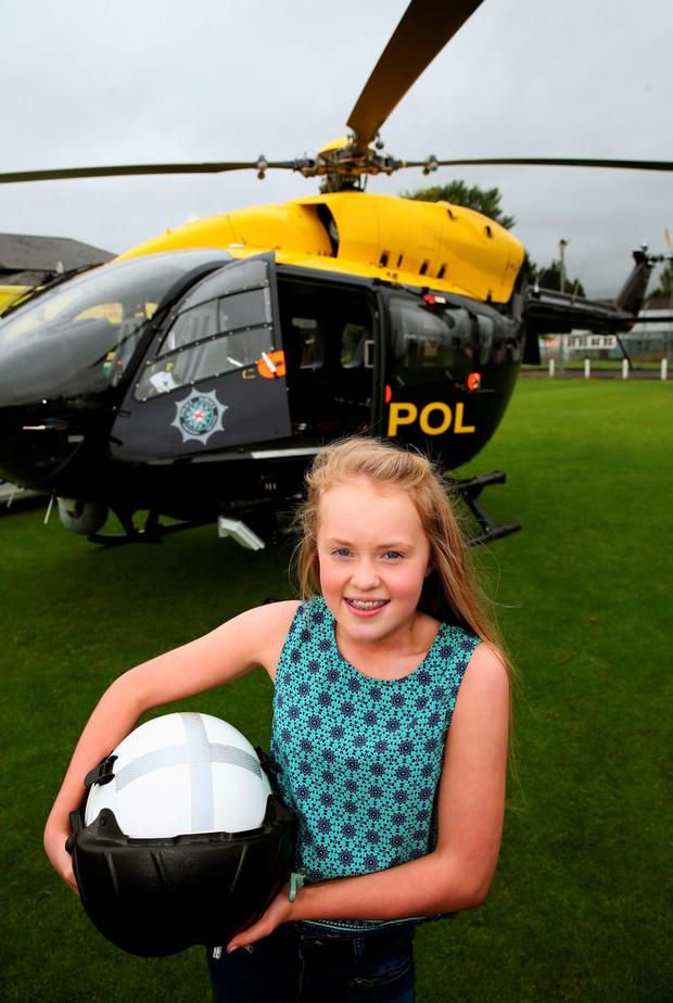 Alanna Casement yesterday met the paramedics and police officers who helped save her life after a freak accident last year