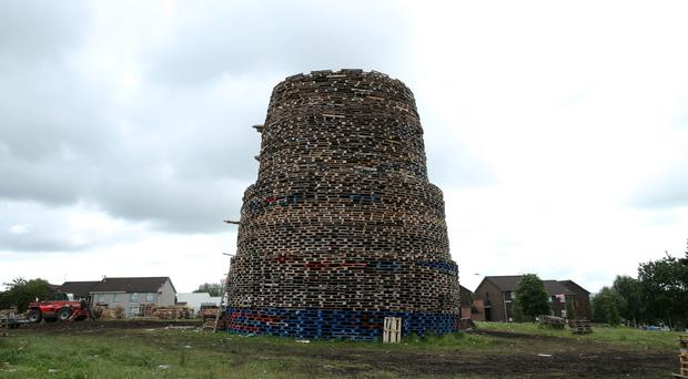 The bonfire at Ballymacash