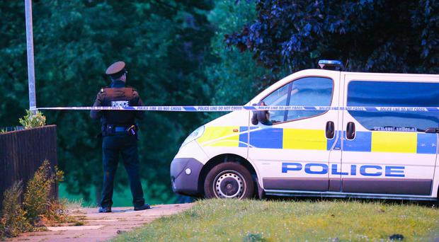 Police cordon off the area around Kirkistown Walk