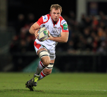 Roger Wilson in action for Ulster