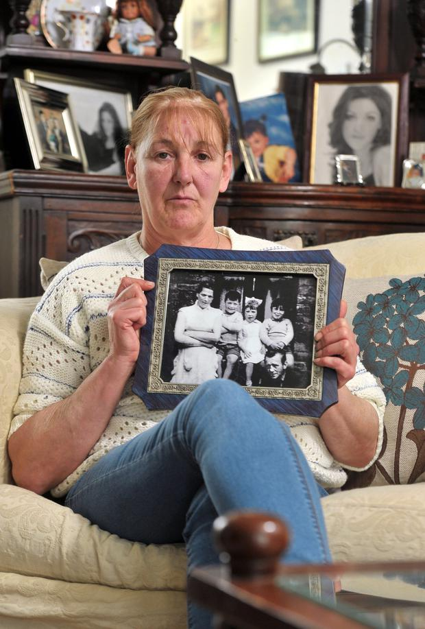 Helen McKendry with a picture of her mother