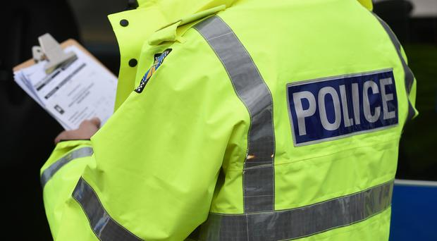 Officers say the attack took place outside a bar in Belfast's Castle Street last night.