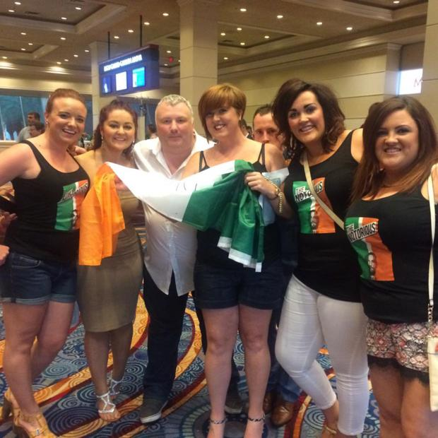 BBC presenter Stephen Nolan with Irish fans in Las Vegas