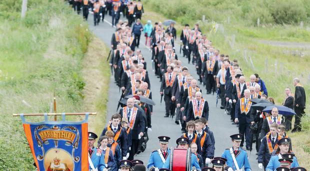 The annual Rossnowlagh Twelfth Orange Order parade taking place in Co Donegal on Saturday