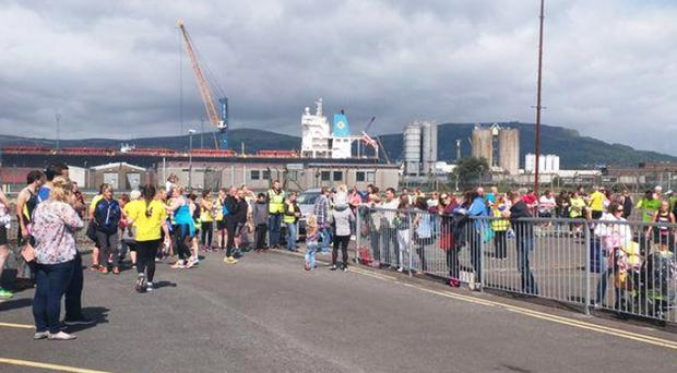 Scenes from Sunday's Titanic half-marathon in Belfast