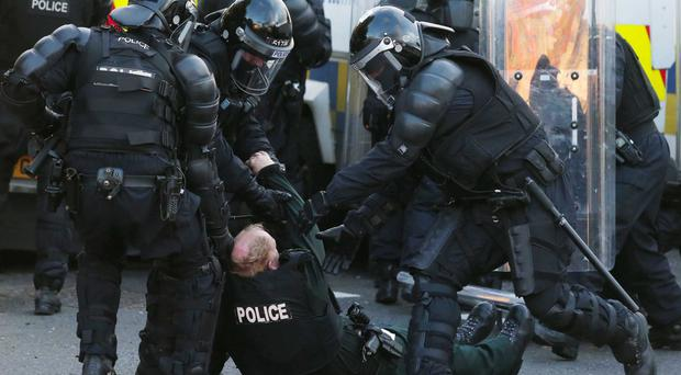 The Orange Order has condemned loyalist violence in north Belfast on Monday in which 20 PSNI officers were injured