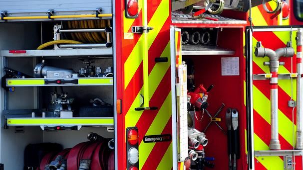 Firefighters battled a major blaze in Londonderry