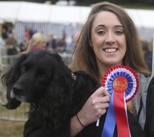 At Castlewellan Show are Hayley Graham with her dog Paddy
