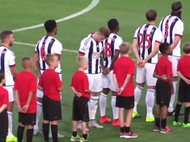 James McClean has turned his back to the English flag during the national anthem before a West Brom match
