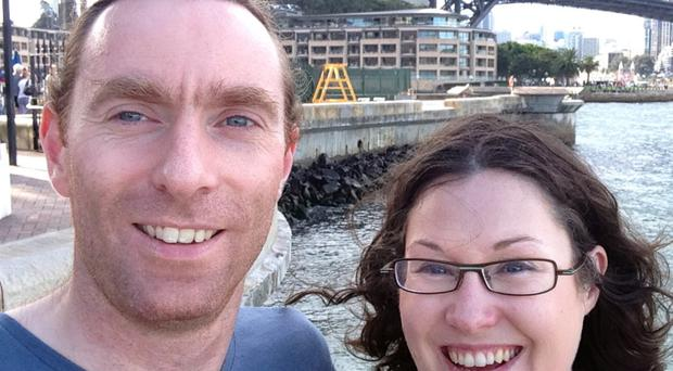 John Hinds and partner Janet Acheson