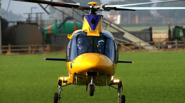 MLA Arlene Foster said there are no air ambulances in Northern Ireland and 'this needs to change'