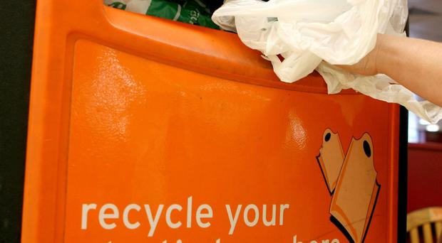 From October, large shops in England will be required to charge 5p for plastic bags