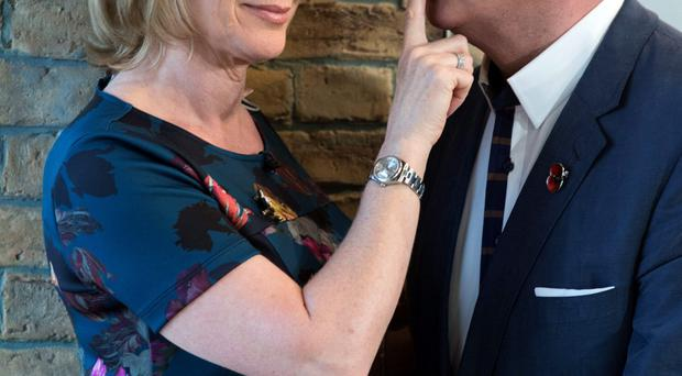 Happy together: TV's golden couple Eamonn Holmes and Ruth Langsford
