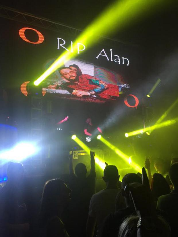 Clubbers' tribute to Alan Drennan in Lush in Portrush