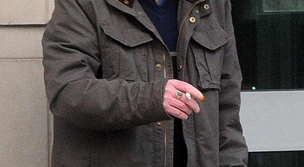 Sex abuse pensioner Patrick Toal pictured outside Belfast Crown Court yesterday