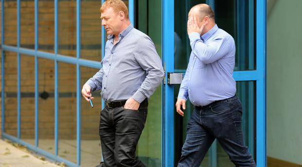 Martin McGlinchey (left) and Stephen McLaughlin leave Basildon Crown Court