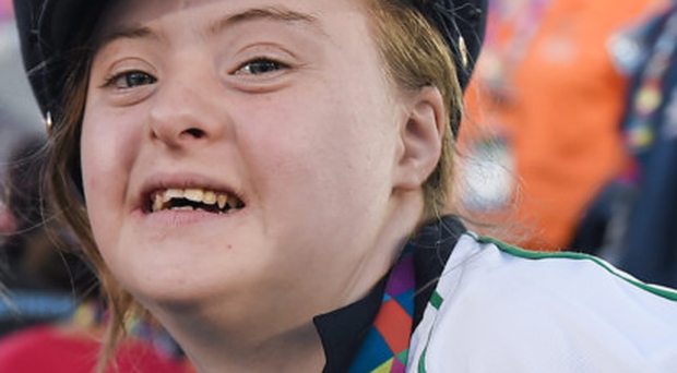 Dearbhail Savage, of Co Armagh, at the opening ceremony of the Los Angeles Special Olympics